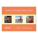 Tarjetas de felicitación chinas felices de la foto invitación 12,7 x 17,8 cm