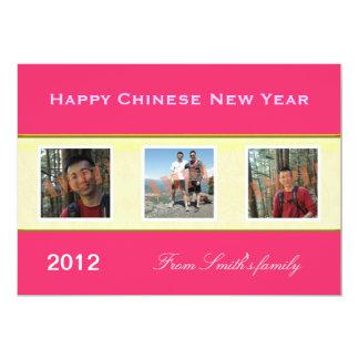"""Tarjetas de felicitación chinas felices de la foto invitación 5"""" x 7"""""""