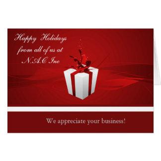 Tarjetas de felicitación corporativas del navidad