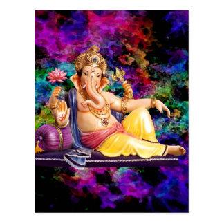 Tarjetas de felicitación de Ganesha, pegatinas, po Postales