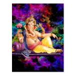 Tarjetas de felicitación de Ganesha, pegatinas, Postales