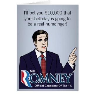 Tarjetas de felicitación de la apuesta de Mitt Rom