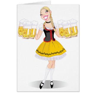 Tarjetas de felicitación de la cerveza de la