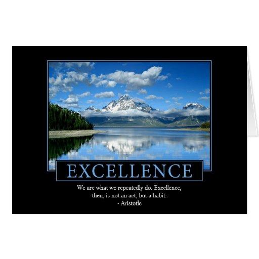 Tarjetas de felicitación de la excelencia
