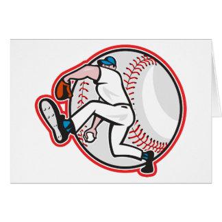 Tarjetas de felicitación de la jarra del béisbol