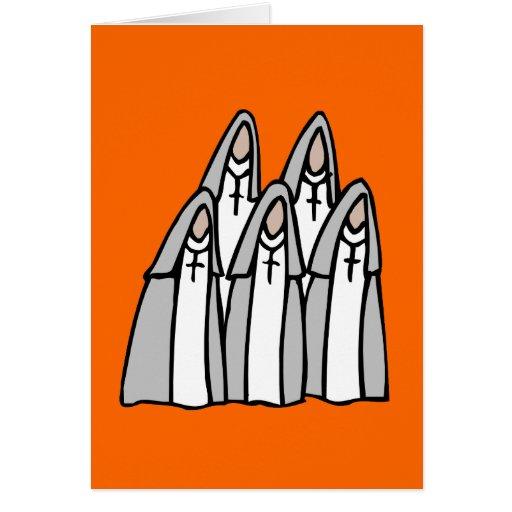 Tarjetas de felicitación de la monja