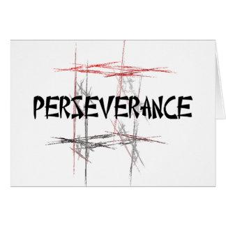 Tarjetas de felicitación de la perseverencia