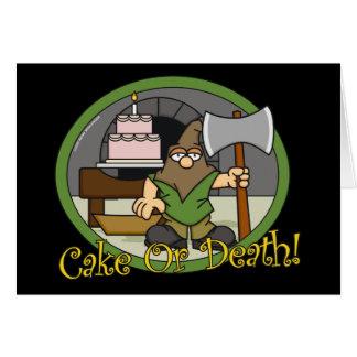 Tarjetas de felicitación de la torta o de la muert