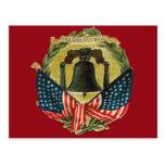 Tarjetas de felicitación de Liberty Bell del vinta Postales