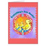 Tarjetas de felicitación de los patos