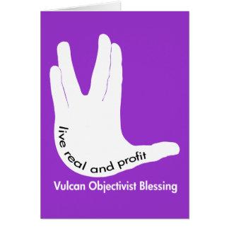 Tarjetas de felicitación de Vulcan Objectivist