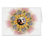 Tarjetas de felicitación de Yin Yang de la astrolo
