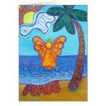Tarjetas de felicitación del ángel de la playa de