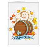 Tarjetas de felicitación del barril de Oktoberfest
