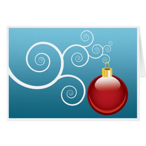 Tarjetas de felicitación del bulbo del navidad