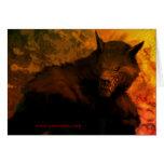 Tarjetas de felicitación del busto del hombre lobo