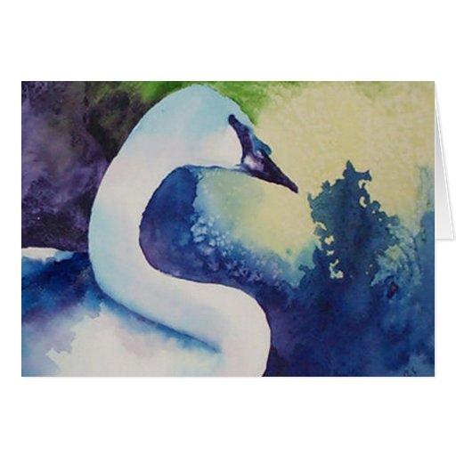 tarjetas de felicitación del cisne
