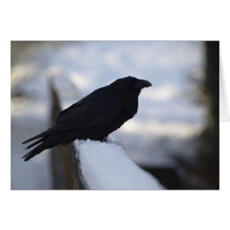 Tarjetas de felicitación del cuervo