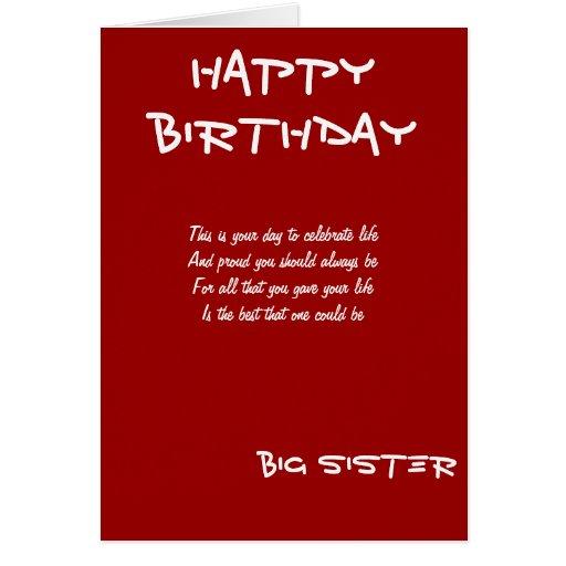 Tarjetas de felicitación del cumpleaños de la herm
