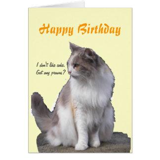 Tarjetas de felicitación del cumpleaños del gato