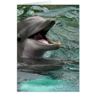 Tarjetas de felicitación del delfín que hablan