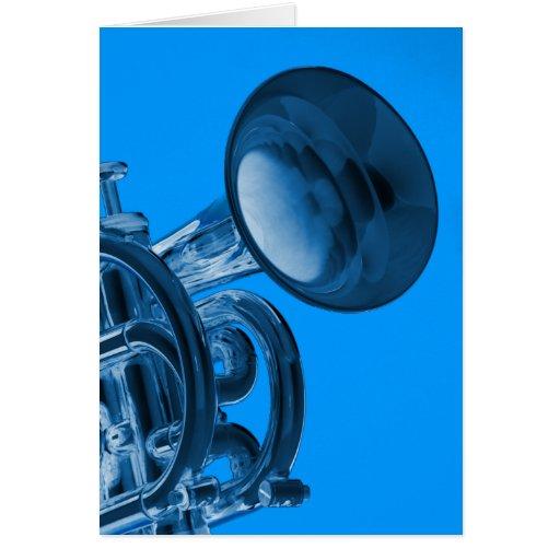 Tarjetas de felicitación del dibujo de la trompeta