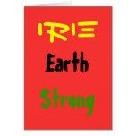Tarjetas de felicitación del earthstrong de Rasta
