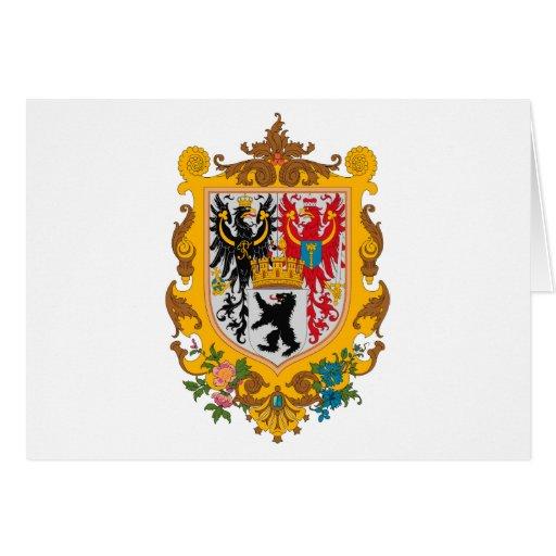 Tarjetas de felicitación del escudo de armas de Be