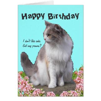 Tarjetas de felicitación del gato