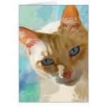 Tarjetas de felicitación del gato siamés del punto