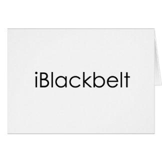 Tarjetas de felicitación del iBlackbelt de los art