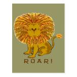 Tarjetas de felicitación del león tarjeta postal