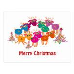 Tarjetas de felicitación del navidad: 7 ciervos II Postales