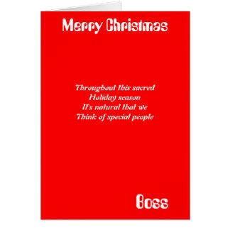 Tarjetas de felicitación del navidad de Boss