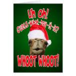 Tarjetas de felicitación del navidad del camello d