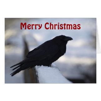 Tarjetas de felicitación del navidad del cuervo