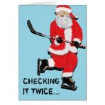 Tarjetas de felicitación del navidad del hockey