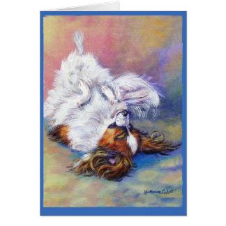 Tarjetas de felicitación del perro de Papillon