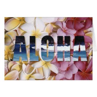Tarjetas de felicitación del Plumeria de la hawaia