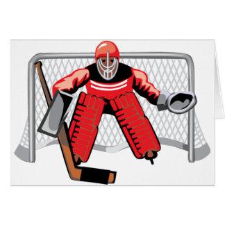 Tarjetas de felicitación del portero del hockey so
