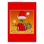 Tarjetas de felicitación del ratón de Santa