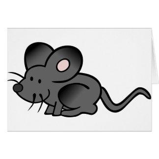 Tarjetas de felicitación del ratón del dibujo anim