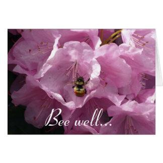 Tarjetas de felicitación del rododendro y de la ab