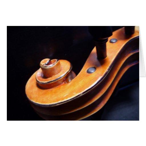 Tarjetas de felicitación del violín