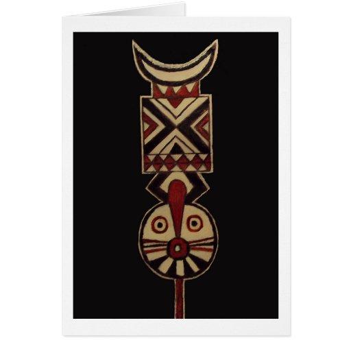 Tarjetas de felicitación en blanco de Masks_Art de