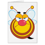 Tarjetas de felicitación enojadas de la abeja de l