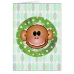 Tarjetas de felicitación enrrolladas del mono