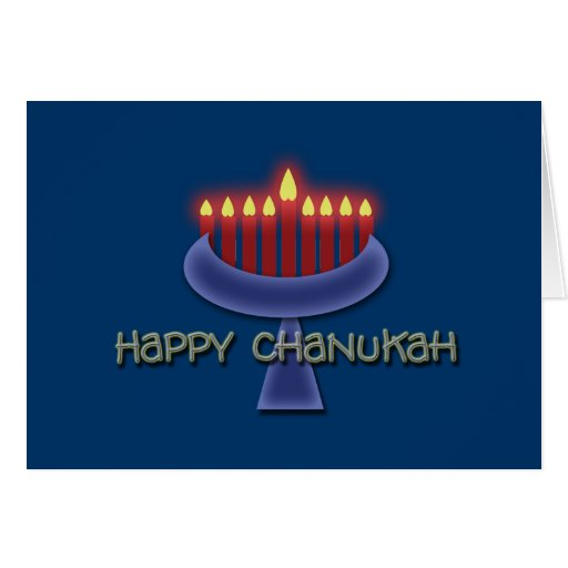 Tarjetas de felicitación felices de Chanukah