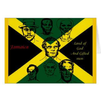 Tarjetas de felicitación felices de Jamaica de la