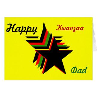 Tarjetas de felicitación felices del papá de Kwanz